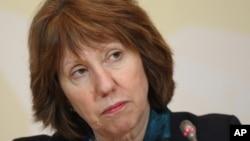 FILE - EU foreign policy chief Catherine Ashton, April 6, 2013.