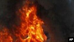 شنگھائی کی عمارت میں آتش زدگی سے آٹھ ہلاک