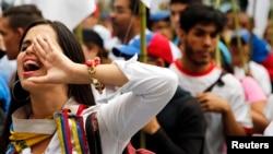 Los estudiantes universitarios fueron los promotores de las protestas contra Maduro en 2014.