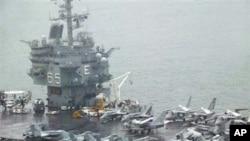美國戰艦到南韓港口訪問(資料圖片)