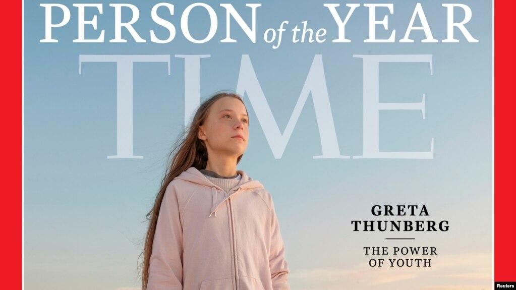 Bìa của TIME đăng ảnh của Greta Thunberg