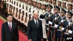 Урочисте привітання віце-президента Джо Байдена в Пекігні