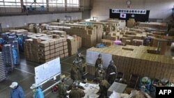 Один из складов с гуманитарной помощью
