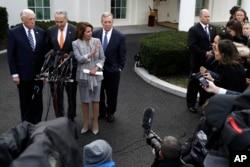 Demokrat liderlar Oq uy oldida, 9-yanvar, 2019