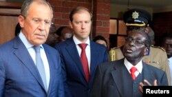 Сергей Лавров и Роберт Мугабе