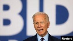 Mantan Wakil Presiden AS dan bakal calon presiden partai Demokrat, Joe Biden, saat melakukan kampanye di Burlington, Iowa, AS., 7 Agustus 2019.