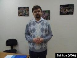喀山大學國際關係與東方學院教師馬丁諾夫。(美國之音白樺拍攝)