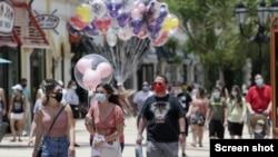 Taman hiburan Walt Disney World di Florida dibuka kembali hari Sabtu (11/7).
