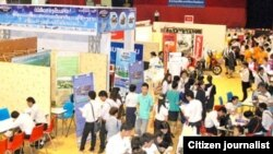 Lao Students Attend Employment Fair In Vientiane.