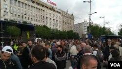 Protest 1 od 5 miliona u Beogradu, 27. aprila 2019. (Foto: VOA/Aleksandra Nenadović)