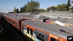 Zaustavljeni vozovi u Atini