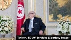 Le président tunisien Béji Caïd Essebsi à Tunis, 25 octobre2018. (Twitter/EC AV Services)