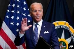 FILE - President Joe Biden speaks in McLean, Va., July 27, 2021.