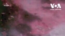 Лісові пожежі на заході США видно із космосу. Відео