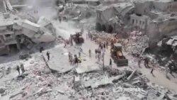 کشته شدن دهها غیرنظامی در سقوط هواپیمای جنگی در سوریه
