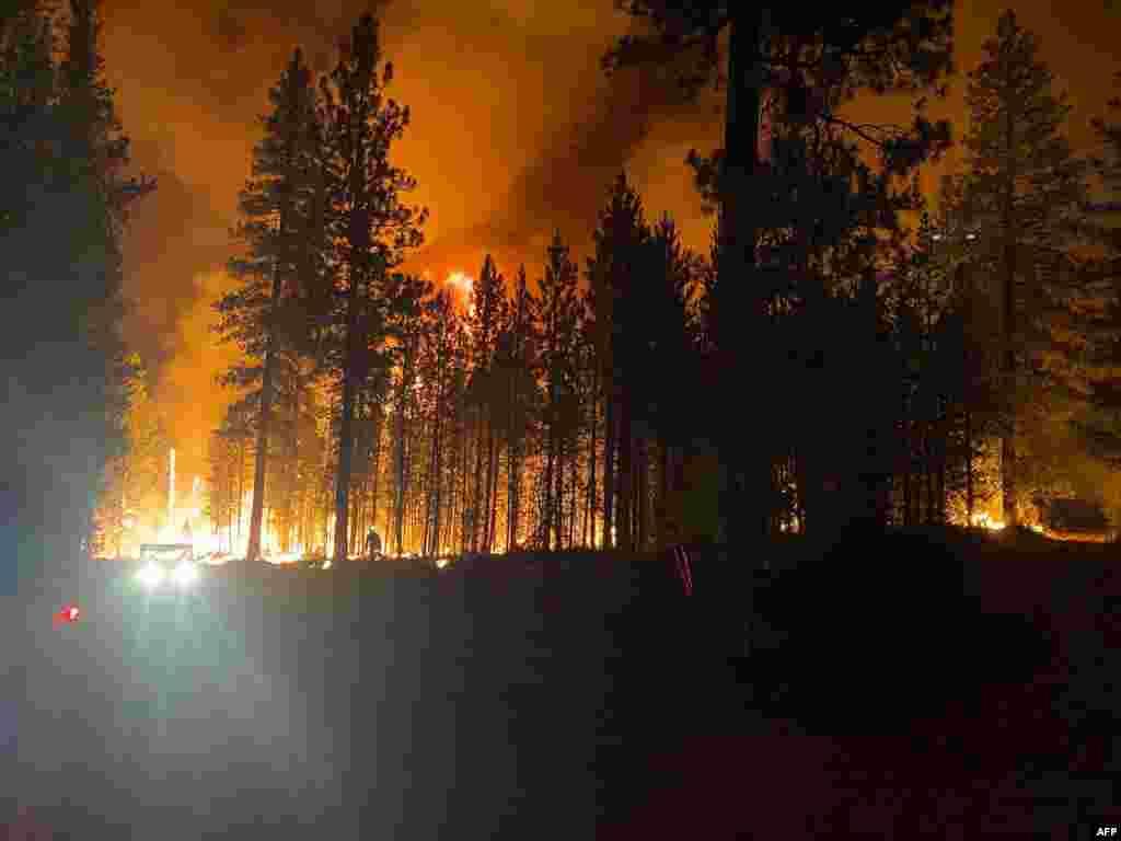 미국 오리건주 프리몬트-위너머 국립산림에서 대형 산불이 발생했다.