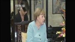 德國總理默克爾會晤李克強