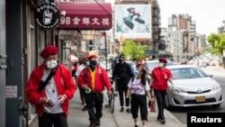 Nhiều người gốc Hoa sinh sống tại các Chinatown ở nhiều thành phố của Mỹ (ảnh: New York, tháng 5, 2020).