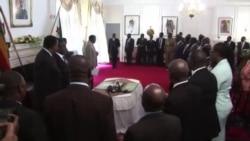 Zimbabwe President Robert Mugabe Swears in 14 New Ministers, Deputies