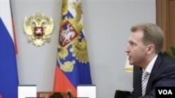 Wakil Perdana Menteri Rusia Igor Shuvalov (foto: dok) menengok infrastruktur di Kepulauan Kuril, yang disebut Jepang sebagai Wilayah Utara.