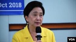 中國維權權律關注組成員、民主黨前主席劉慧卿。(美國之音湯惠芸)