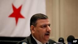 叙利亚叛逃总理希贾布在约旦记者会上发表讲话