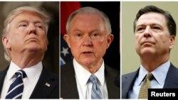 Perezida Donald Trump, Jeff Sessions na James Comey