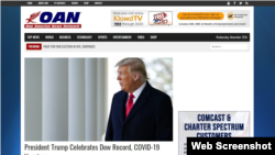 A portion of the OAN home page on the internet. (Web screenshot)