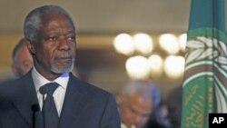 Cựu Tổng thư ký Liên hiệp quốc Kofi Annan, người mới được chỉ định làm đặc sứ Liên hiệp quốc và Liên đoàn Ả Rập về Syria