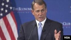 El presidente de la Cámara de Representantes habló en el Club Económico de Washington.