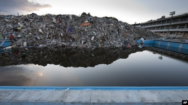 Tsunami rubble, Fukushima prefecture, Japan. (Photo by Mark Edward Harris)