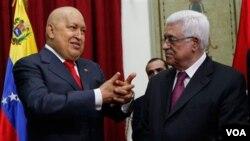 Chávez planteó a Abbas, la iniciativa de construir un hospital en los territorios palestinos.