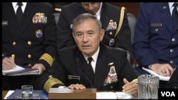 美國太平洋司令部司令、海軍上將哈里斯2月23日在參議院作證。