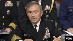 Chỉ huy Bộ tư lệnh Thái Bình Dương Mỹ, Đô đốc Harry Harris, trong cuộc điều trần tại Ủy ban Quân vụ Thượng viên Mỹ, ngày 23/2/2016.