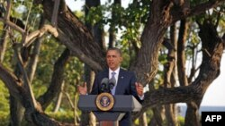 Predsednik Barak Obama govori na konferenciji za novinare nakon završetka samita APEK-a na Havajima