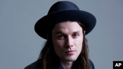 James Bay poses for a portrait in New York, Nov. 10, 2015.