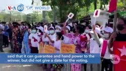 VOA60 Addunyaa - Myanmar Protesters Block Trains and Streets After Military Coup