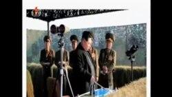 北韓領導人金正恩視察火箭發射訓練