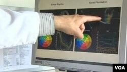 Seorang peneliti di AS menunjukkan plak berbahaya yang menumpuk dalam pembuluh darah.