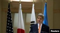 Ngoại trưởng Hoa Kỳ John Kerry nói về vấn đề nhân quyền của Bắc Triều Tiên trước cuộc họp Đại hội đồng Liên hiệp quốc ở New York 23/9/14