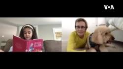美加孩童通過視頻為狗朗讀一舉兩得