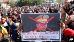 Мин Аунг Хлайн, главнокомандующий Вооруженными силами Мьянмы, пришедший к власти путем военного переворота 1 февраля 2021 года[