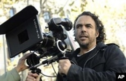 Director Alejandro González Iñárritu on the set of the movie
