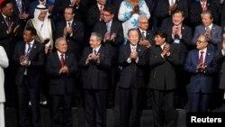 Un aspecto de la foto oficial de la Cumbre del G77+China que se realiza en Santa Cruz de la Sierra, Bolivia.