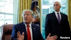 Президент Дональд Трамп и вице-президент Майк Пенс