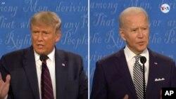 El presidente Donald Trump y el exvicepresidente Joe Biden en un momento del debate celebrado en Cleveland, Ohio, el 29 de septiembre.