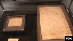 《大憲章》(Magna Carta)面世800週年2015年全球巡展紀念活動在香港啟動(美國之音海彥拍攝)