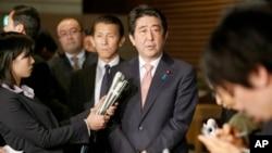 日本安倍晉三首相2015年1月21日資料照。
