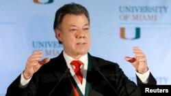 Tổng thống Colombia Jose Manuel Santos.