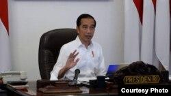 Presiden Jokowi dan DPR sepakat untuk menunda pembahasan RUU Cipta Kerja Klaster Ketenagakerjaan. (Foto Courtesy : Septpres RI/dok)